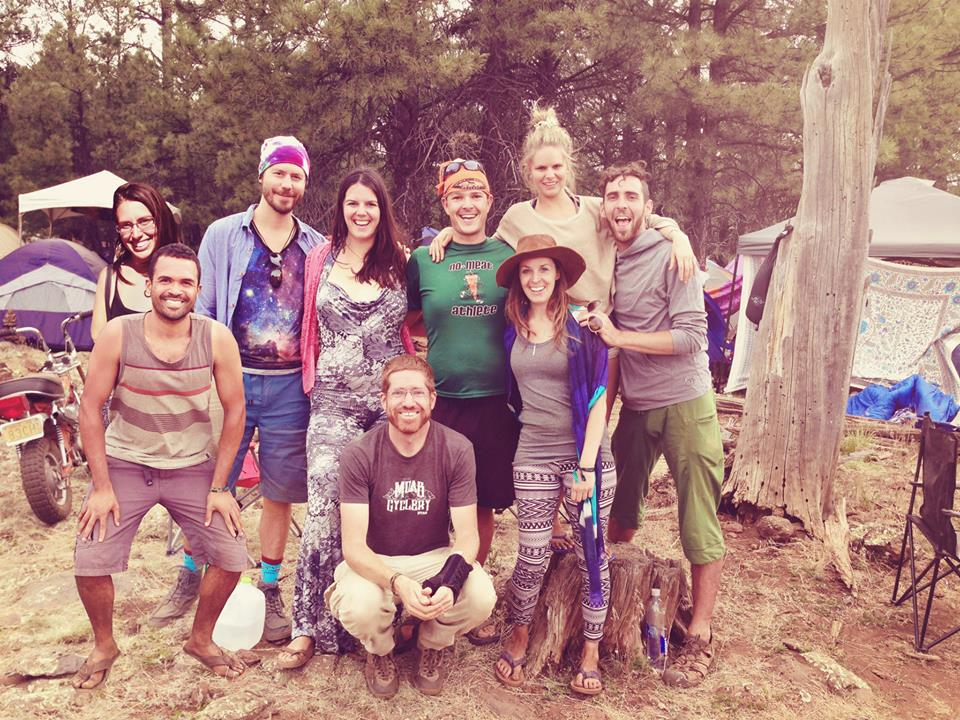 spiritual people at Firefly Gathering in Flagstaff