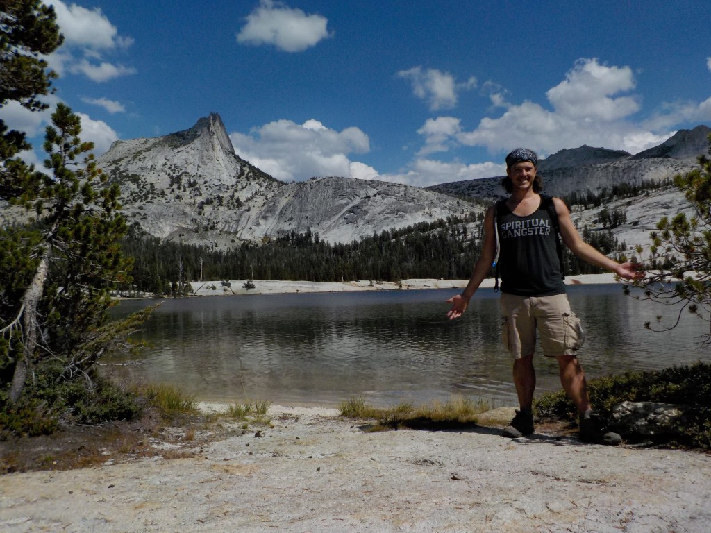 Spiritual gangster at Cathedral Lake