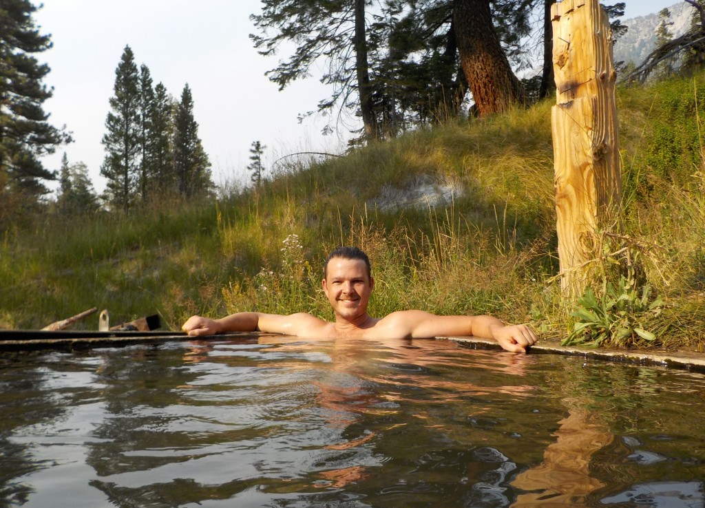guy in hot spring