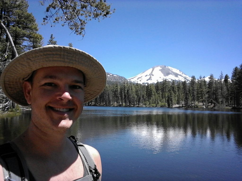 hiker at Lassen Peak